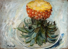 Pineapple on a plate.
