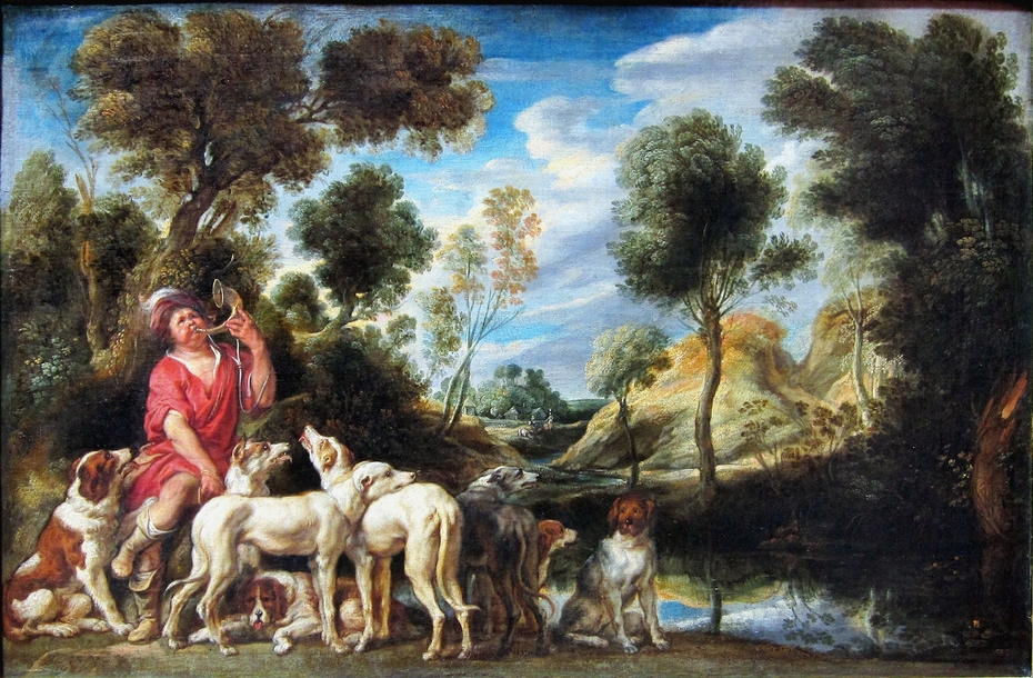 Piqueur et ses chiens