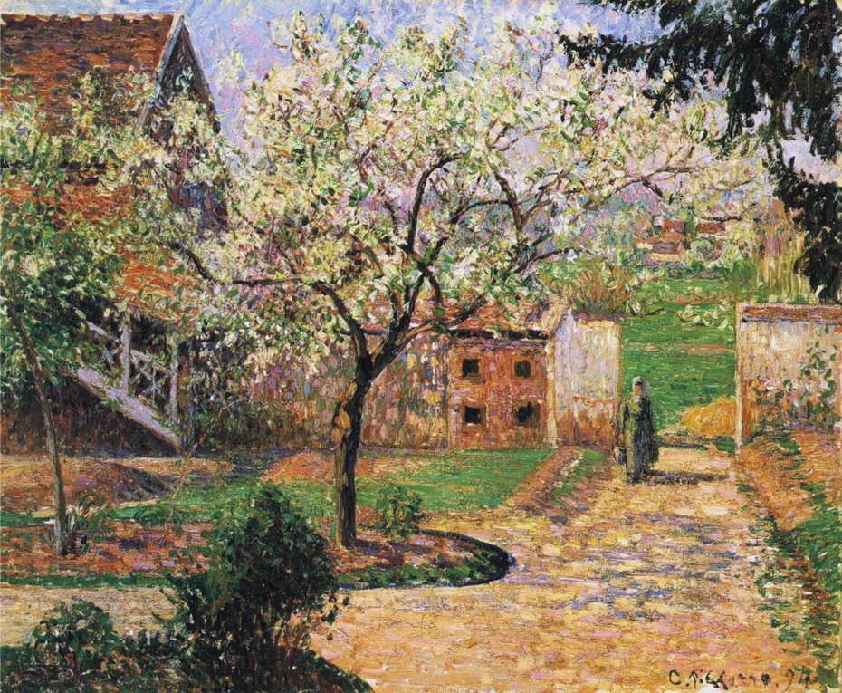 Plum Trees in Blossom, Éragny
