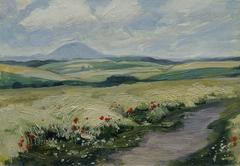 """Podřipsko (aus der Mappe """"16 Ansichten tschechischer Landschaften 'Česka Krajiná'"""")"""