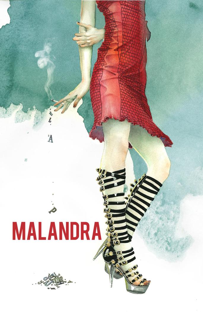 "Portada libro / book cover ""Malandra"""