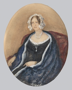 Portrait of a Lady in a White Bonnet and a Cape