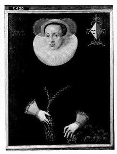 Portrait of Anna van der Aar (1576-1656), wife of Petrus Scriverius
