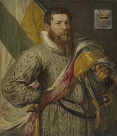 Portrait of Hendrick Jansz. Spijcker, called De Veer, as Flag Bearer