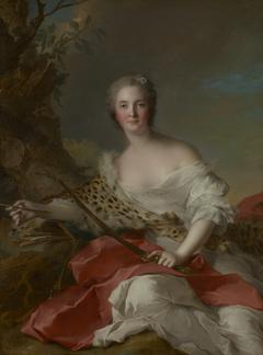Portrait of Madame Bonnier de la Mosson as Diana (Constance-Gabrielle-Magdeleine du Monciel de Lauraille