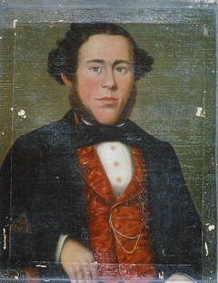 Portrait of man with red waistcoat