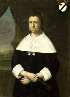 Portrait of Maria Quevellerius, first Wife of Jan van Riebeeck, or his second wife Maria Scipio (formerly entitled Portrait of Elisabeth van Gaesbeek, Wife of Anthony van Riebeeck)