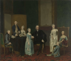 Portrait of Pieter Cornelis Hasselaer, Adviser to the Dutch East India Company and Burgomaster of Amsterdam, with his Family
