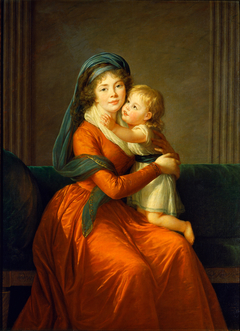 Portrait of princess Alexandra Golitsyna and her son Piotr