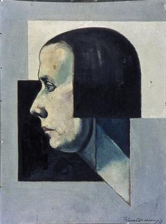 Portret van Petró (Nelly van Doesburg), en profil