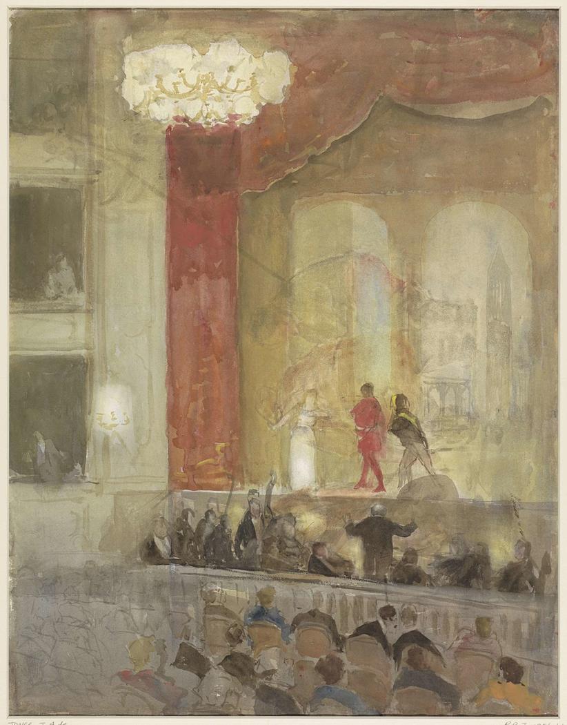 Princesse Schouwburg te Den Haag tijdens de opvoering van Othello