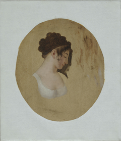 Profile of a Young Woman's Head