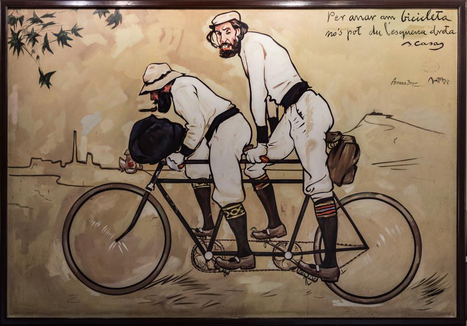 Ramon Casas and Pere Romeu on a Tandem