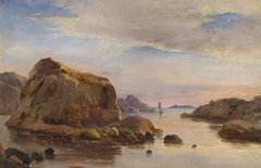 Rocky shore at Marstrand, Sweden.