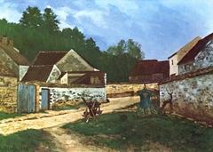 Rue de village à Marlotte (Village Street in Marlotte)