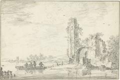 Ruïne van het kasteel Borgvliet(?)