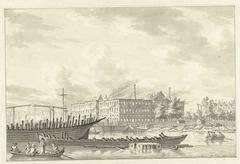 's Lands Zeemagazijn na de brand, 1791