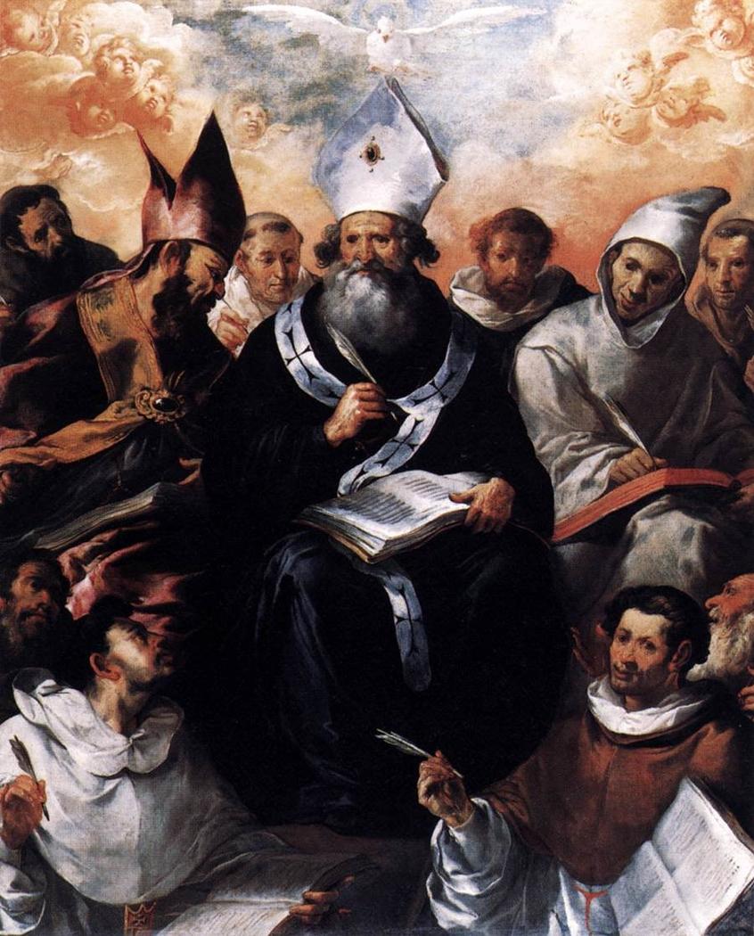 Saint Basil Dictating His Doctrine