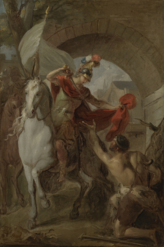 Saint Martin Sharing his Coat with a Beggar