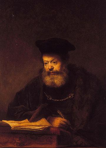 Scholar at his desk
