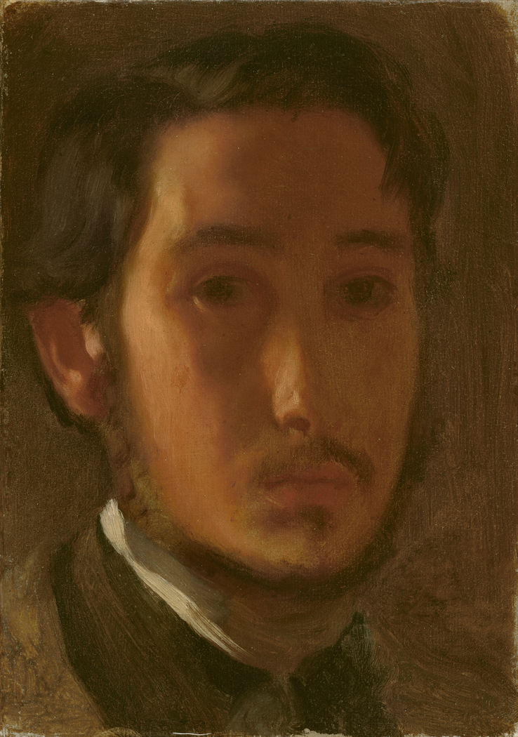 Self-Portrait with White Collar