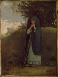 Shepherdess Leaning on her Staff