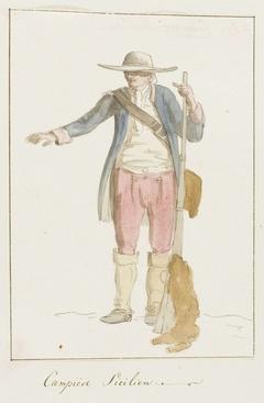 Sicileense man in plaatselijk klederdracht