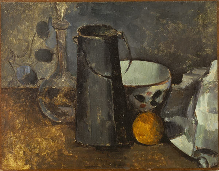 Still Life with Carafe, Milk Can, Bowl and Orange