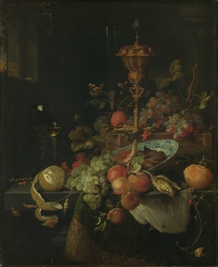 Still Life with Fruit and a Beaker on a Cock's Foot