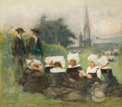 """Study for """"Breton Women at a Pardon"""""""