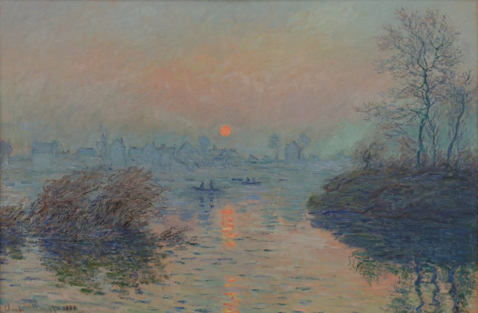 Sunset on the Seine at Lavacourt, in winter