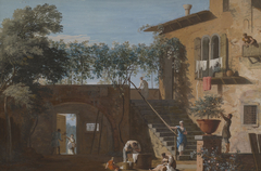 The Courtyard of a Country House
