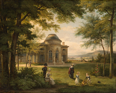 The Family of Charles Ferdinand, Duke of Berry (1778-1820) in the Grounds of the Château of Bagatelle