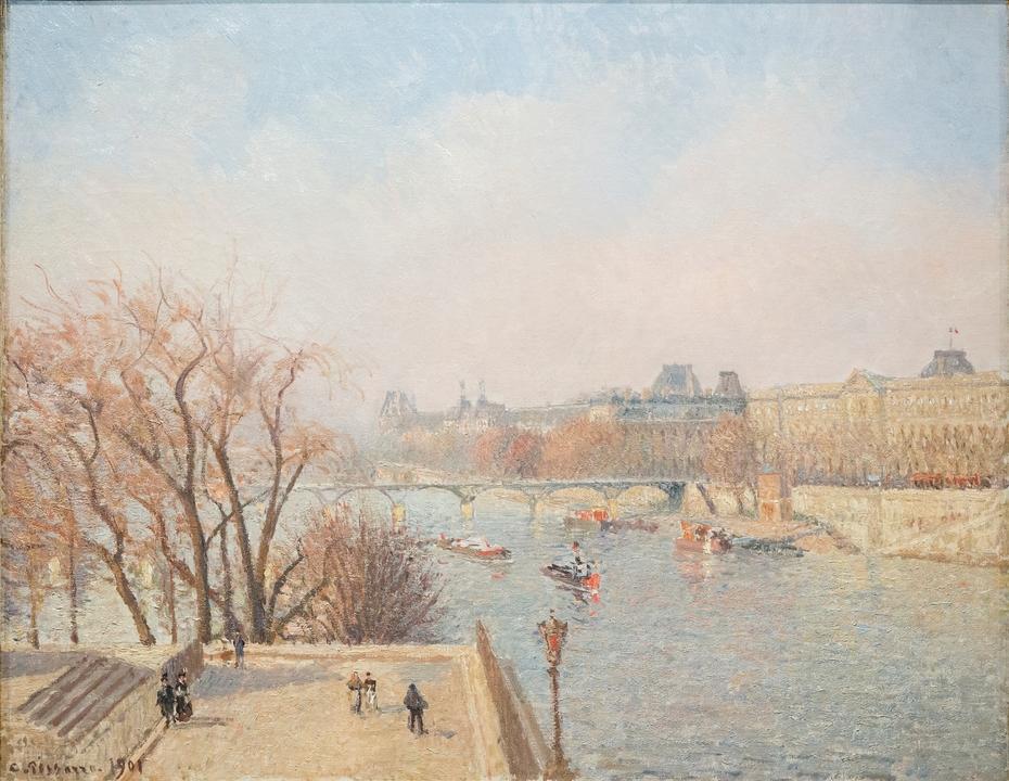 The Louvre: Morning, Sunlight
