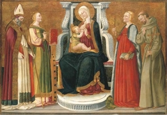 The Madonna and Child with a Bishop Saint, Saints Catherine of Alexandria, Margaret of Antioch and Francis of Assisi
