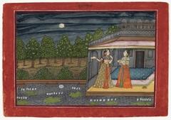 "The Month of Ashvin (September-October), from a manuscript of the Barahmasa (""Twelve Months"")"