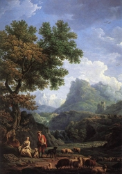 The Shepherdess in the Alps