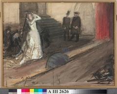 Theatre Scene (Ida Aalberg as Maria Stuart)