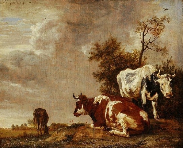 Three Cows on a Pasture