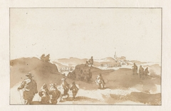 Two Sketches of Figures on the Dunes near Scheveningen