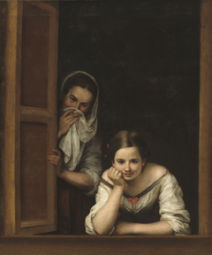 Two women at a window