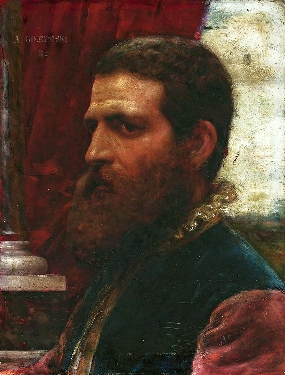 A bust of a man in Renaissance costume