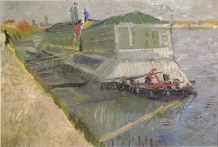 Bathing boat on the Seine at Asnieres
