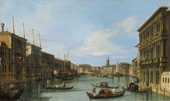 Venice: The Grand Canal from the Palazzo Vendramin-Calergi towards San Geremia
