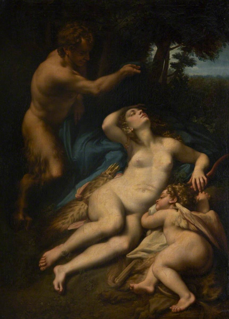 Venus, Satyr and Cupid, traditionally called Jupiter and Antiope (after Correggio)