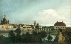 View of Dresden from the right bank of the Elbe above the Augustus Bridge