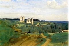 View of Pierrefonds castle