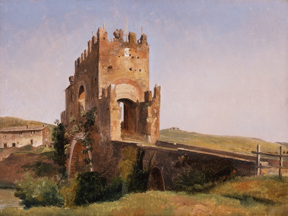 View of the Ponte Nomentano (Roman Campagna)