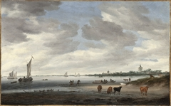 View of the River Lek and the Town of Vianen