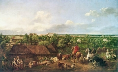 View of Ujazdów from the Royal Baths